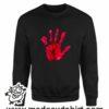 000377 blood hand Unisex Sweatshirt or Hoodie 6