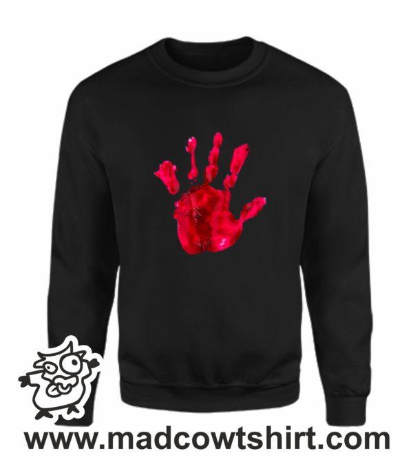 000377 blood hand Unisex Sweatshirt or Hoodie 3