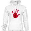 000377 blood hand Unisex Sweatshirt or Hoodie 5