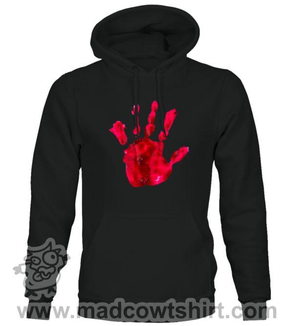 000377 blood hand Unisex Sweatshirt or Hoodie 1