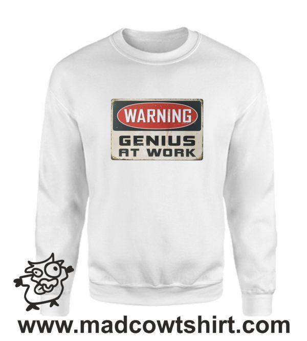 000378 genius at work Felpa unisex senza o con cappuccio 3