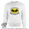 384 superhero barman FELPA bianca