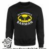 384 superhero barman FELPA nera
