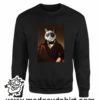 388 funny cat paint FELPA nera