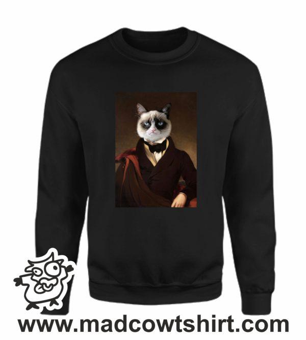 000388 funny cat paint Unisex Sweatshirt or Hoodie 4
