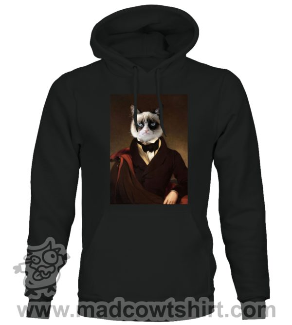 000388 funny cat paint Unisex Sweatshirt or Hoodie 2