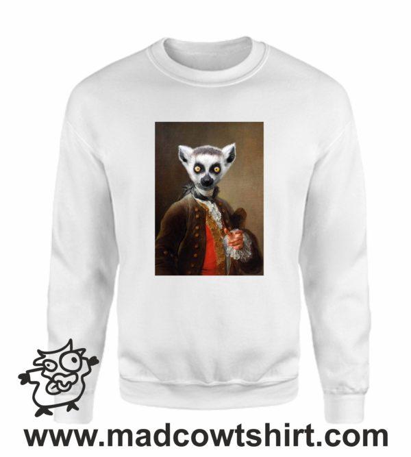 000389 funny lemur paint Unisex Sweatshirt or Hoodie 4