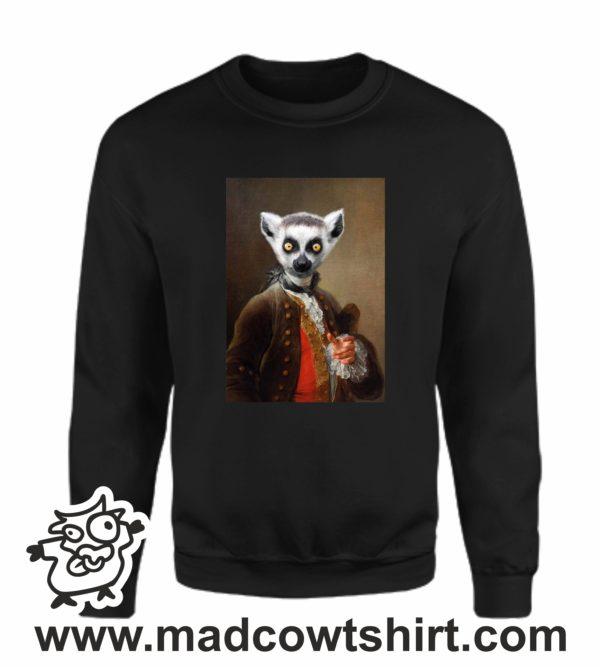 000389 funny lemur paint Unisex Sweatshirt or Hoodie 3