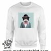 390 funny monkey paint FELPA bianca