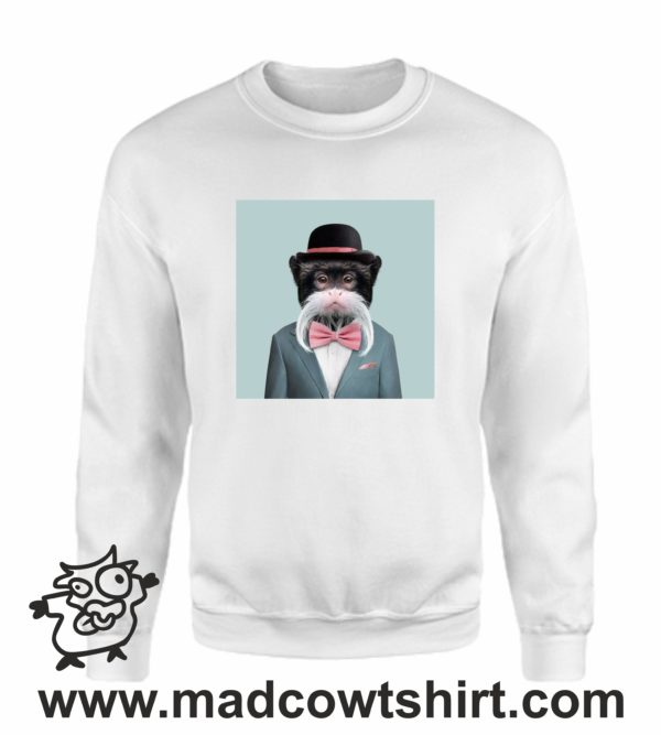 000390 funny monkey paint Felpa unisex senza o con cappuccio 3